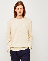 Ymc Bel Airs Crew Neck Jumper Off White