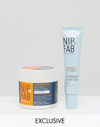 Nip Fab And Asos Exclusive Overnight Treatments Glycolic Duo Glycolic Clear