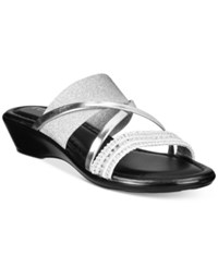 Easy Street Shoes Tuscany Velino Sandals Women's Silver