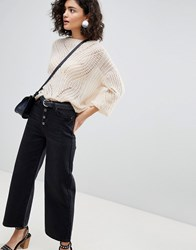 Selected Cropped Jeans Black