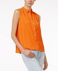 Armani Exchange Sleeveless Popover Top A Macy's Exclusive Solid Light