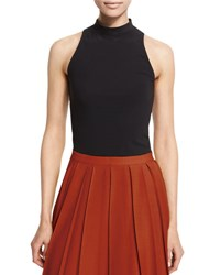 Theory Vohani Fine Knit Sleeveless Top Black