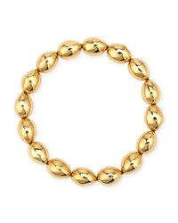 Molten 18K Bead Stretch Bracelet Yellow Michael Aram