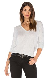 Vince Drop Sleeve Vee Tee Light Gray