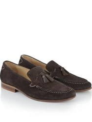 Hudson Bernini Suede Loafers Brown