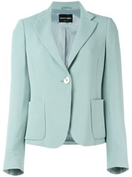 Emporio Armani Single Button Blazer Green