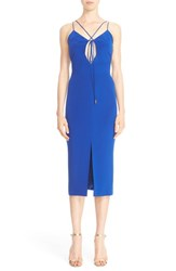 Cushnie Et Ochs Women's Lace Up Silk Pencil Dress