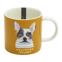 Joules Mischievous Mutts Cuppa Mug Gold Dog