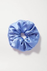 Jennifer Behr Hammered Silk Hair Tie Blue