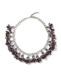 East Reena Cluster Necklace Flint