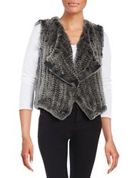 Elie Tahari Rabbit Fur Vest Grey