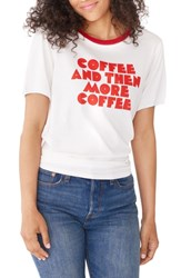Ban.Do Ban. Do Coffee And More Coffee Ringer Tee