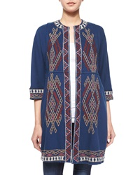 Johnny Was Sophie Embroidered Long Coat Women's
