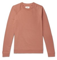 Folk Rivet Loopback Cotton Jersey Sweatshirt Orange