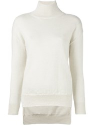 Cedric Charlier Turtle Neck Jumper White