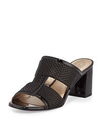 Circa Joan And David Kirby Patent Leather Slide Sandal Black