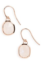 Monica Vinader Women's Siren Semiprecious Stone Drop Earrings Blue Lace Agate Rose Gold
