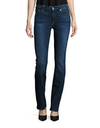 7 For All Mankind Kimmie Faded Straight Leg Jeans Buckingham Blue