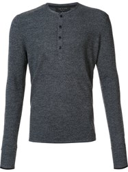 Rag And Bone 'Giles' Henley Sweater Grey