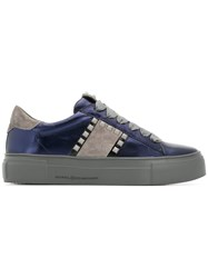 Kennel Schmenger And Studded Lace Up Sneakers Blue