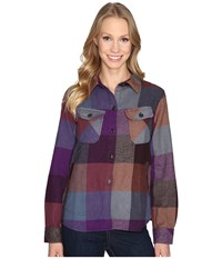 Woolrich Oxbow Bend Shirt Jac Wisteria Multi Women's Long Sleeve Button Up