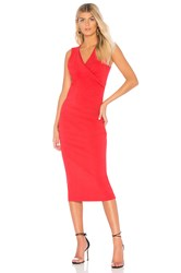 Michael Stars Crossover Dress Red