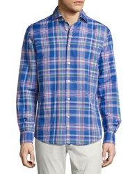 Ralph Lauren Plaid Woven Shirt Bright Blue