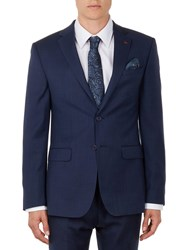 Ted Baker Ovract Birdseye Wool Suit Jacket Navy