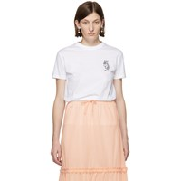 Miu Miu White Unicorn T Shirt