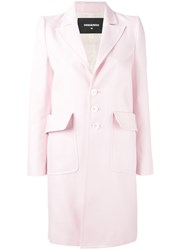 Dsquared2 Single Breasted Coat Pink Purple