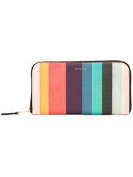 Paul Smith Striped Zipped Wallet