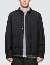 Sacai Cotton Quilted Shirt Black