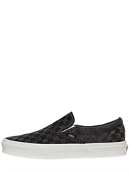 Vans Washed Checkered Cotton Slip On Sneakers