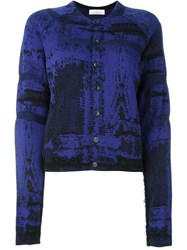 A.F.Vandevorst Intarsia Knit Cardigan Pink And Purple