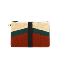 Jerome Dreyfuss Women's Popoche Large Clutch Bag Rouille Caviar