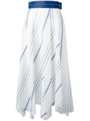 Loewe Striped Handkerchief Skirt White