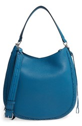 Rebecca Minkoff Unlined Convertible Whipstitch Hobo Blue Lake Blue Silver