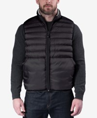 Hawke And Co. Outfitter Outfitters Men's Big Tall Reversible Puffer Vest Grey Cloud Camo Black