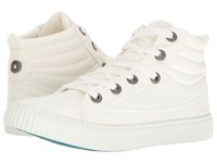 Blowfish Crawler White Color Washed Canvas Women's Lace Up Cap Toe Shoes