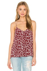 Equipment Layla Giraffe Print Cami Rust