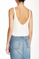 American Apparel Sparkle Cropped Tank White