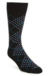 Lorenzo Uomo Men's Dotted Argyle Crew Socks