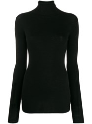 Tibi Rollneck Wool Sweater Black