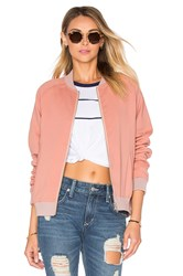 Lovers Friends Roadtrippin Bomber Jacket Peach