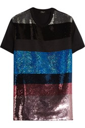 Giambattista Valli Sequinned Silk And Cotton Top Multi