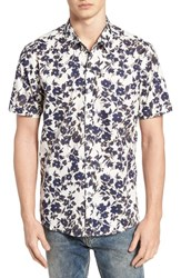 7 Diamonds Magnificent Floral Print Sport Shirt Natural
