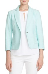 Women's Cece By Cynthia Steffe Basket Weave One Button Jacket Clearwater