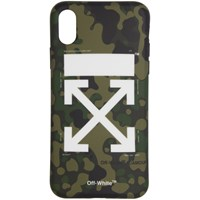 Off White Green Arrows Camouflage Iphone X Case