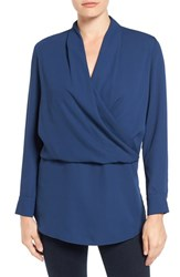 Vince Camuto Women's Surplice Tunic Naval Navy