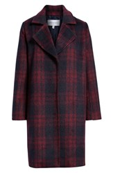 Cupcakes And Cashmere Brushed Plaid Coat